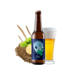 Montrer le produit de notre cave : la bière Princesse Pale Ale de Bières Georges