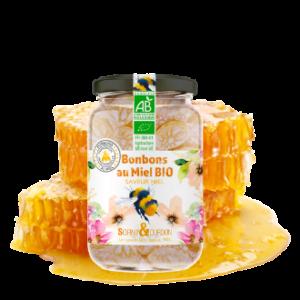 Montrer le produit : bonbons au miel bio saveur miel.