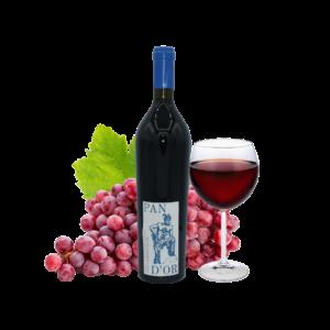 Montrer le produit de notre cave : le vin de France Pan d'or Gamay, un vin rouge