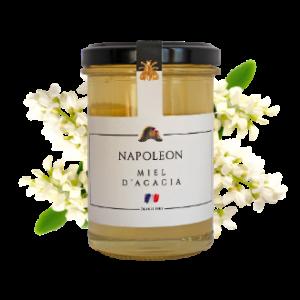 Montrer le produit : le miel d'acacia Napoléon.