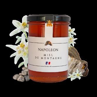 Montrer le produit : le miel de montagne Napoléon.